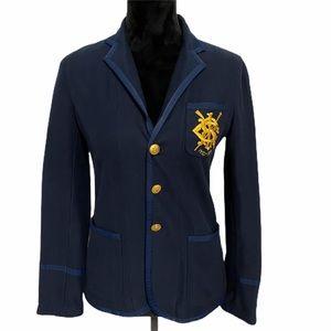RALPH LAUREN SPORT Blue Crest Jacket Sz 2